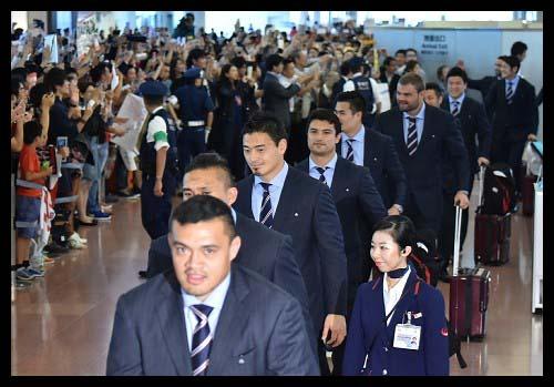 ラグビー日本代表帰国